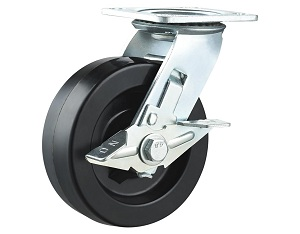 High Temperature Nylon Wheel Swivel Plate with Side Brake